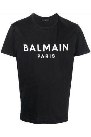 Balmain Men T-shirts - Logo-print crew-neck T-shirt