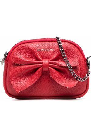 Monnalisa Bow-detailed leather shoulder bag