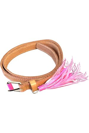 Tara Jarmon Camel Leather Belts