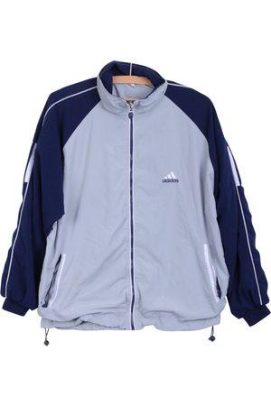adidas Men Jackets - Grey Polyester Jackets