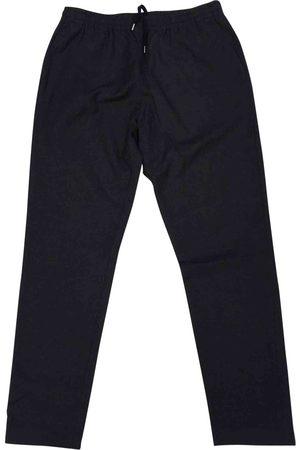 KRIS VAN ASSCHE Anthracite Wool Trousers
