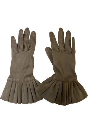 Bvlgari Grey Leather Gloves