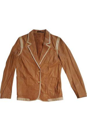 Bally Women Leather Jackets - Camel Leather Jackets