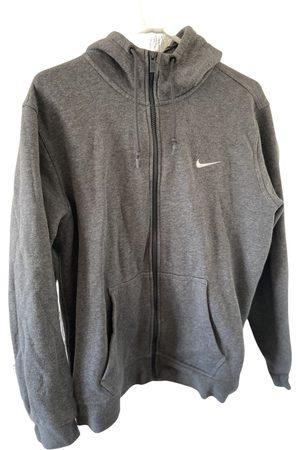 Nike Men Sweatshirts - Grey Cotton Knitwear & Sweatshirts