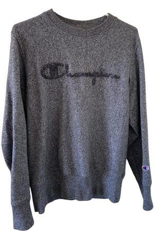 Champion Men Sweatshirts - Grey Cotton Knitwear & Sweatshirts