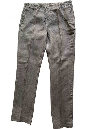 Incotex Women Straight Leg Pants - Linen straight pants