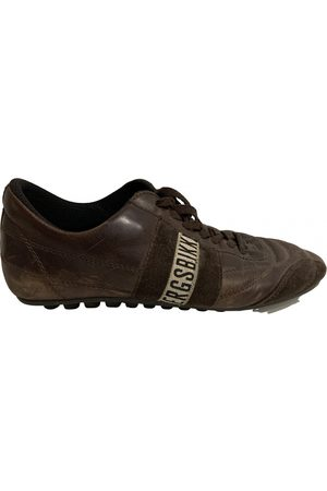DIRK BIKKEMBERGS Leather low trainers
