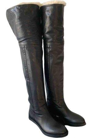 Céline Folco leather snow boots