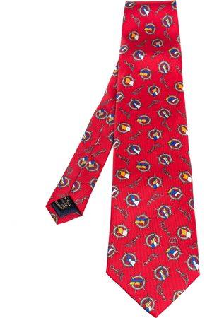 Gucci Vintage Nautical Print Silk Tie