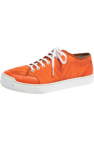 LOUIS VUITTON Fabric and Leather Sneakers Size 42