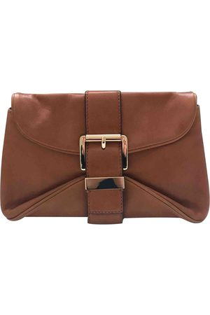 Michael Kors Camel Leather Clutch Bags