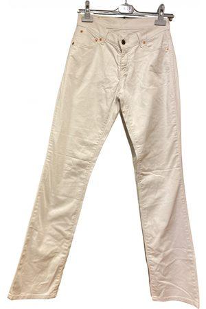 Levi's Ecru Cotton - elasthane Jeans