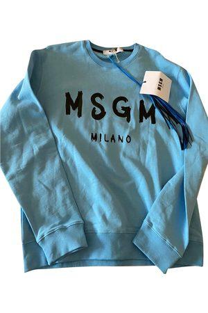 Msgm Turquoise Cotton Knitwear & Sweatshirts