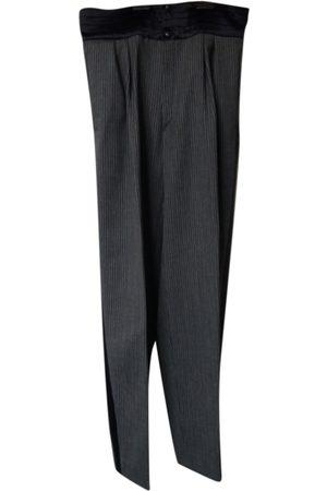 CLAUDE MONTANA Grey Wool Trousers