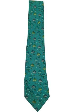 Hermès Turquoise Silk Ties