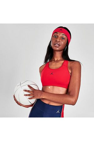 Nike Women Sports Bras - Jordan Women's Jumpman 1-Piece Padded Medium-Support Sports Bra Size X-Small Polyester/Spandex