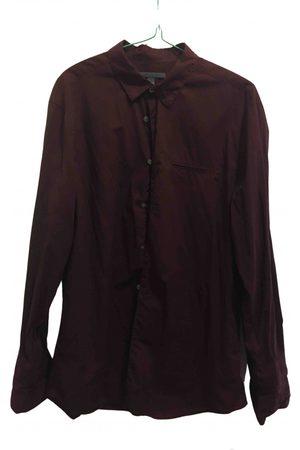 John Varvatos Burgundy Cotton Shirts