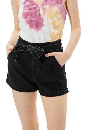 AMERICAN EAGLE Paperbag Mom Denim Shorts 00 Onyx