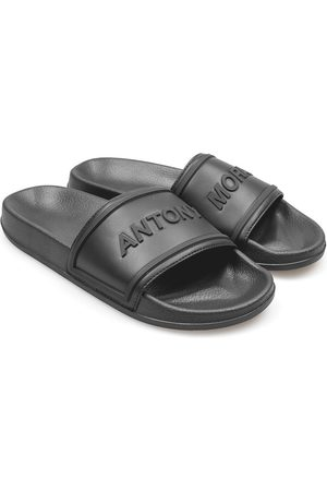 Antony Morato Slide In Rubber & Faux Leather With A Logoed Arch Strap EU 44