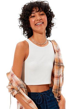 AMERICAN EAGLE High-neck Crop Sleeveless T-shirt L