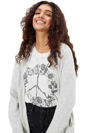 AMERICAN EAGLE Tie-dye Peace Graphic Oversized Short Sleeve T-shirt L-XL Multicolour
