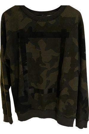 Avelon Khaki Cotton Knitwear & Sweatshirt