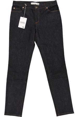 VALENTINO GARAVANI Navy Cotton - elasthane Jeans