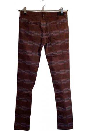 Chloé Burgundy Cotton Trousers