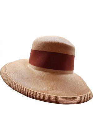 Hermès Khaki Wicker Hats