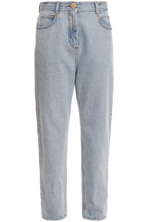 Balmain Logo-button Boyfriend Jeans - Womens