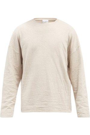 Raey Men Long Sleeve - Crew-neck Long-sleeved Cotton-blend T-shirt - Mens