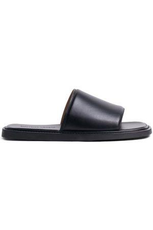 Bottega Veneta Leather Slides - Mens
