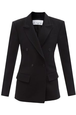 Raey Double-breasted Wool Suit Jacket - Womens