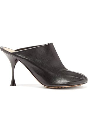 Bottega Veneta Dot Sock Leather Mules - Womens