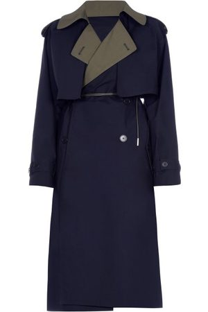 Marni Bi-colour Belted Cotton-blend Trench Coat - Womens