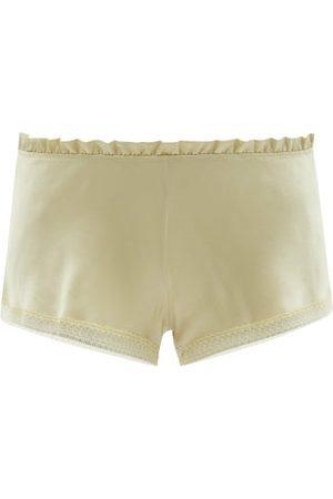 CARINE GILSON Lace-trimmed Silk-satin Pyjama Shorts - Womens