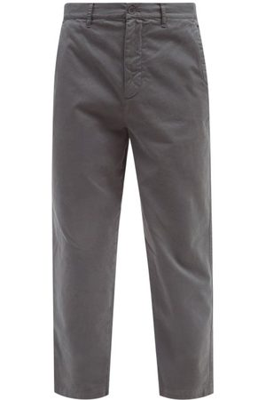 Raey Tapered Cotton Chino Trousers - Mens - Charcoal