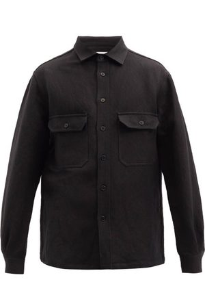 Raey Patch-pocket Linen And Wool-blend Shacket - Mens
