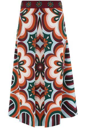 La DoubleJ Santa Monica Ciccio-print Skirt - Womens - Multi