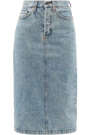 WARDROBE.NYC Women Denim Skirts - High-rise Denim Skirt - Womens - Light Denim