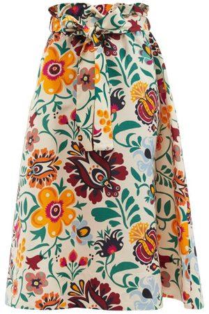 La DoubleJ Sardegna Selva-print Cotton-poplin Skirt - Womens - Print
