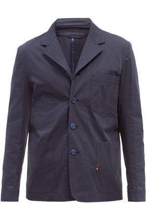 Paul Smith Single-breasted Organic Cotton-blend Twill Blazer - Mens - Navy