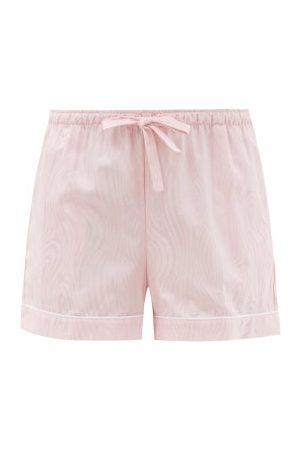 DEREK ROSE Paris 20 Cotton-jacquard Pyjama Shorts - Womens