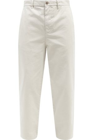 Raey Tapered Cotton Chino Trousers - Mens - Light Grey