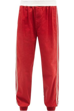 Gucci GG-logo Side-stripe Cotton-drill Track Pants - Mens