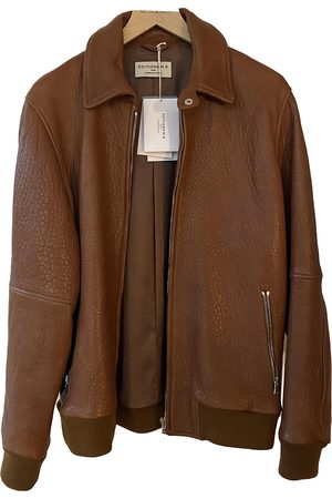 EDITIONS M.R Camel Leather Jackets
