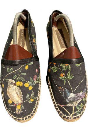 Dolce & Gabbana Anthracite Cloth Espadrilles