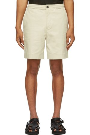 Solid Homme Beige Cotton Basic Shorts