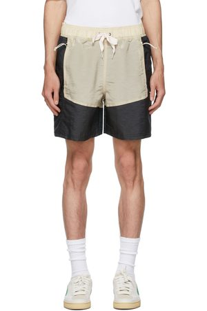 Rhude Black & Beige Puma x Rhuigi Edition Moiré Shorts