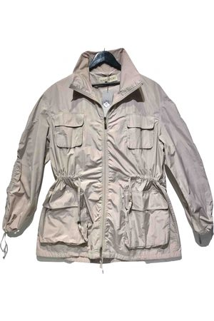 RAMOSPORT Ecru Polyester Trench Coats